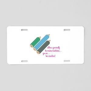 Be Creative Aluminum License Plate