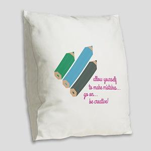 Be Creative Burlap Throw Pillow