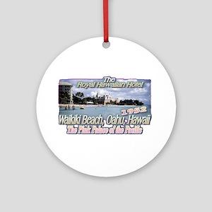Royal Hawaiian Hotel 1952 Ornament (Round)