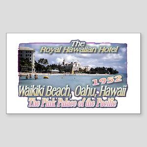 Royal Hawaiian Hotel 1952 Rectangle Sticker