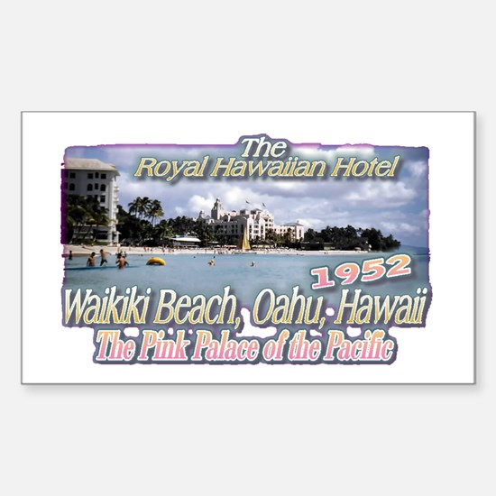 Royal Hawaiian Hotel 1952 Rectangle Decal