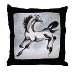 Snow Colt Throw Pillow