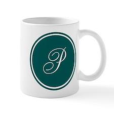 Personalized Turquoise Circle Mugs