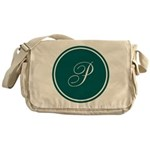 Personalized Turquoise Circle Messenger Bag