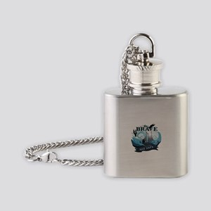 Be brave not safe Flask Necklace