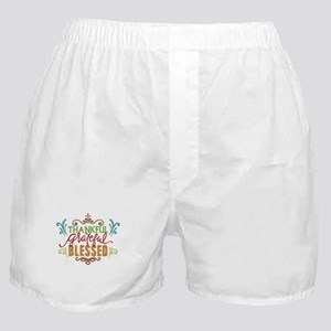 thankful, grateful, blessed Boxer Shorts