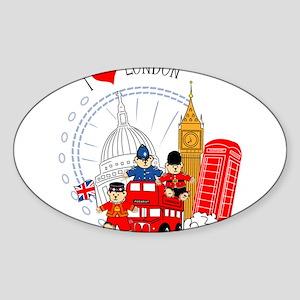 Bus tour Oval Sticker