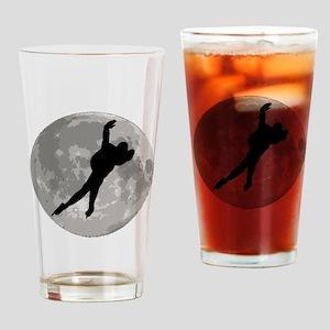 Speed Skater Moon Drinking Glass
