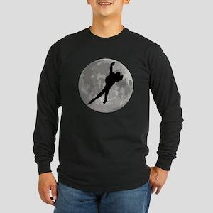 Speed Skater Moon Long Sleeve T-Shirt