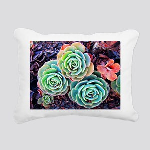 Succulents in the City Rectangular Canvas Pillow