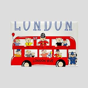London Bus Rectangle Magnet