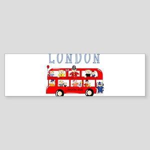 London Bus Bumper Sticker