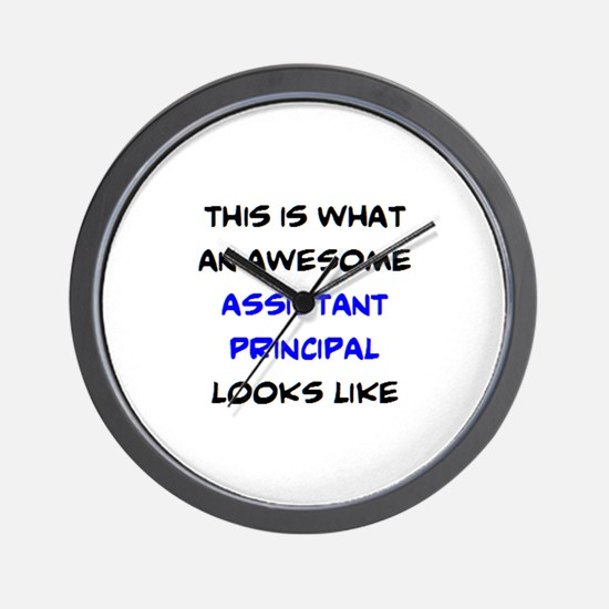 awesome assistant principal Wall Clock
