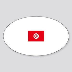 tunisia flag Oval Sticker