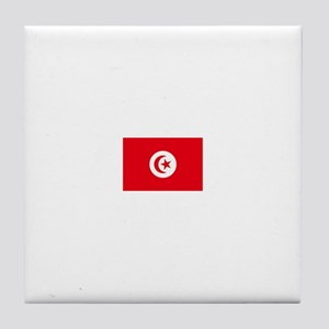 tunisia flag Tile Coaster