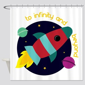 Infinity And Beyond Shower Curtain