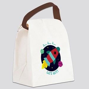 Lift Off Canvas Lunch Bag