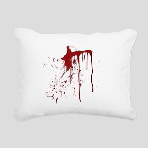 blood splatter Rectangular Canvas Pillow