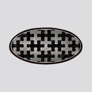 PUZZLE1 BLACK MARBLE & GRAY METAL 1 Patch
