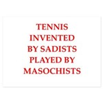 tennis 5x7 Flat Cards
