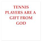 tennis 5.25 x 5.25 Flat Cards