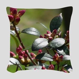 Rhododendron Spring Woven Throw Pillow