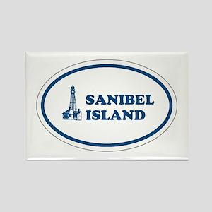 Sanibel Island Light House Rectangle Magnet