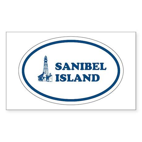 Sanibel Island Light House Rectangle Sticker