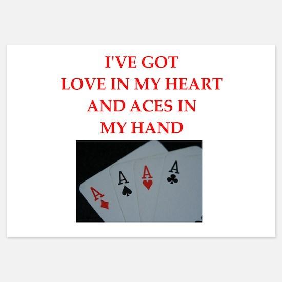 card player Invitations