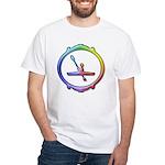 Kayak Paddling White T-Shirt