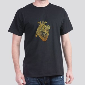 Anatomical Heart - Gold T-Shirt
