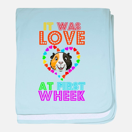 IT WAS LOVE AT FIRST WHEEK baby blanket