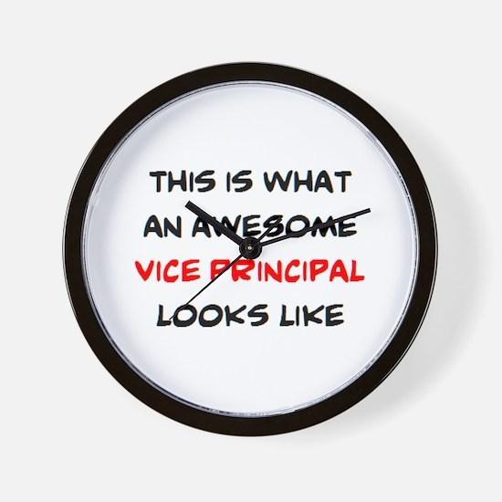 awesome vice principal Wall Clock