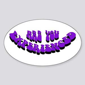 Are You Experienced Oval Sticker