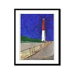 Old Barney Lighthouse Framed Panel Print