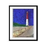 Old Barney Lighthouse Framed Panel Print