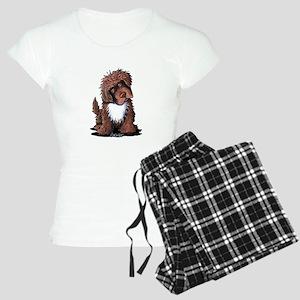 Brown & White Newfie Women's Light Pajamas