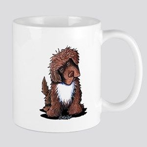 Brown & White Newfie Mug