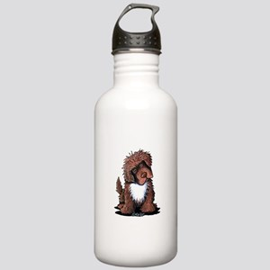 Brown & White Newfie Stainless Water Bottle 1.0L