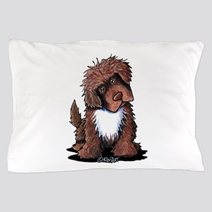 Brown & White Newfie Pillow Case