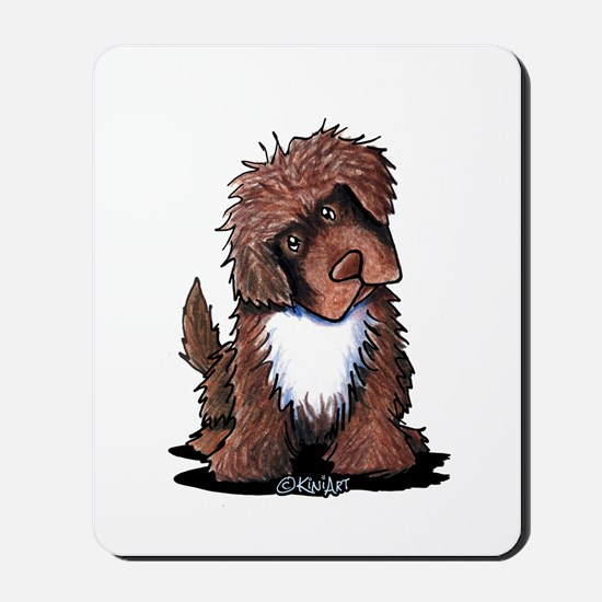 Brown & White Newfie Mousepad