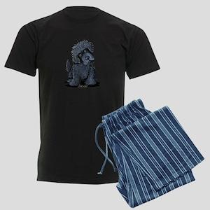 Black Newfie Men's Dark Pajamas