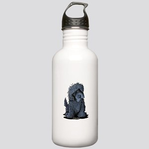 Black Newfie Stainless Water Bottle 1.0L