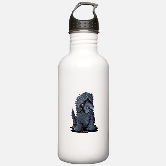Black Newfie Water Bottle