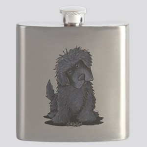 Black Newfie Flask