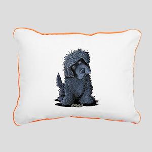 Black Newfie Rectangular Canvas Pillow