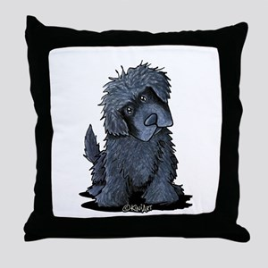 Black Newfie Throw Pillow