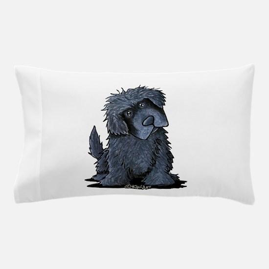 Black Newfie Pillow Case