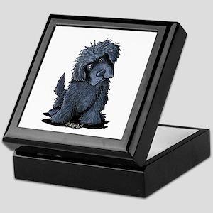 Black Newfie Keepsake Box