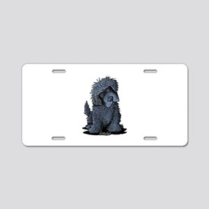 Black Newfie Aluminum License Plate